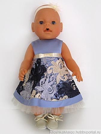Нарядный комплект одежды для куклы Бэби Борн ручной работы на заказ