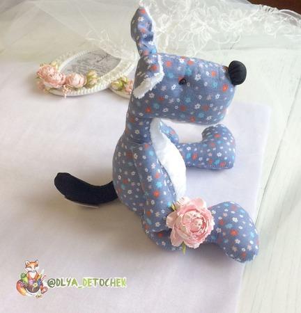 Интерьерная игрушка Пёс по кличке Дар ручной работы на заказ