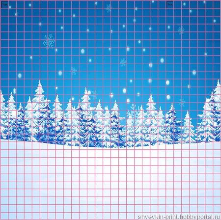 """Фоны и композиции """"Зимние"""" ручной работы на заказ"""