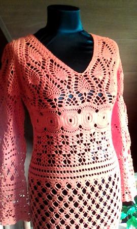 Бразильские мотивы-платье крючком. ручной работы на заказ