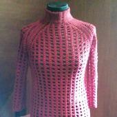 Простой узор - прекрасный результат ,платье крючком.