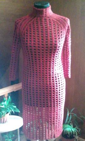 Простой узор - прекрасный результат ,платье крючком. ручной работы на заказ