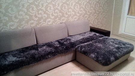 Накидка на диван вязаная ручной работы на заказ