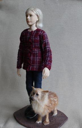 """Кукла по фотографии """"Девочка с собакой"""" ручной работы на заказ"""