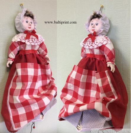 Кукла -салфетница ручной работы на заказ