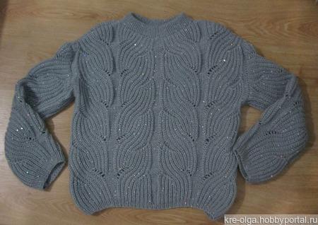 Пуловер оверсайз ручной работы ручной работы на заказ
