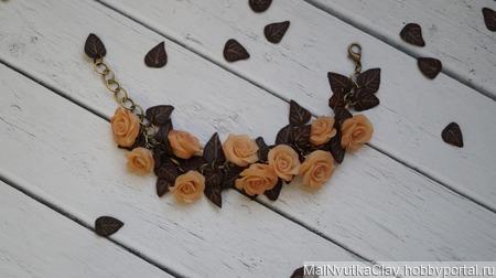 Браслет нежные розы ручной работы на заказ
