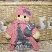 Вязаная игрушка  кукла спицами Милашка