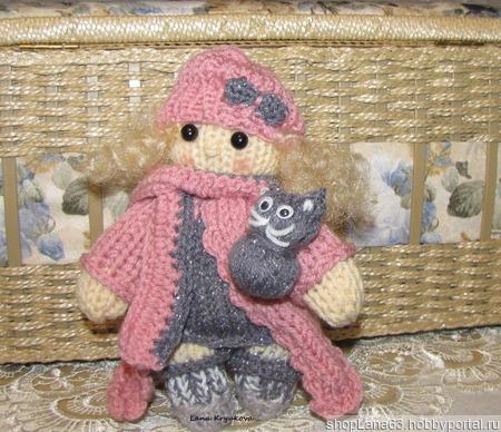 Вязаная игрушка  кукла спицами Милашка ручной работы на заказ
