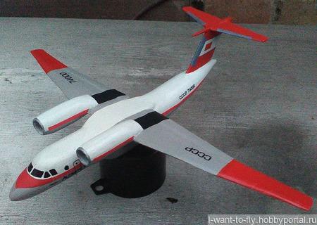 Модель-игрушка самолет Ан-74 ручной работы на заказ