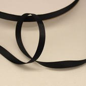 Лента репсовая однотонная 9 мм черная