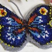 Брошь- Бабочка вышитая бисером