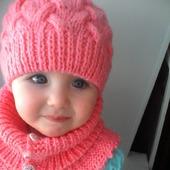 Комплект зимний шапка и манишка