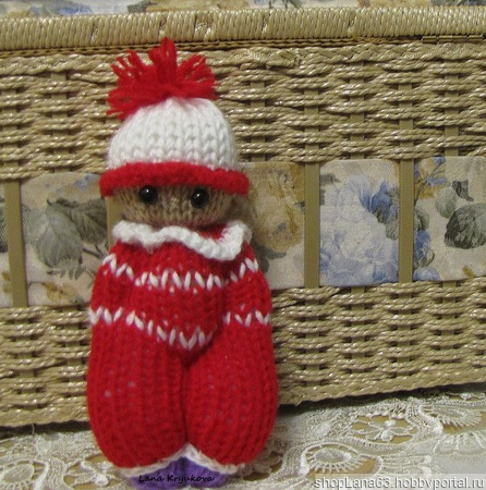 Игрушка Кукла Пупс вязаный ручной работы на заказ
