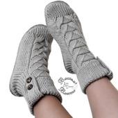 Носки сапожки спицами женские