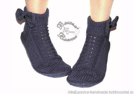 Носки сапожки спицами женские ручной работы на заказ