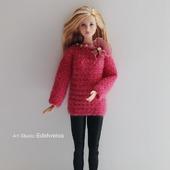 """Яркий свитер """"Peony"""" для Барби"""