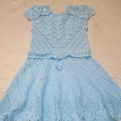 Вязанное крючком платье для девочки: рукодельные товары