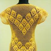 Вязаная крючком летняя блузка