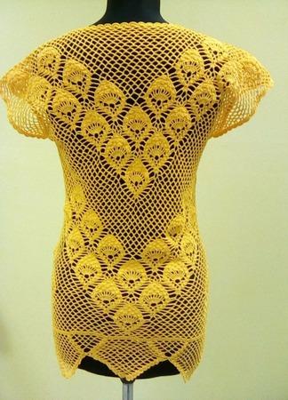 Вязаная крючком летняя блузка ручной работы на заказ