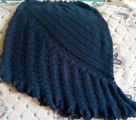 Вязанная крючком черная юбка ручной работы на заказ