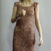 """Летнее вязаное платье   """"Шоколадный каприз"""""""