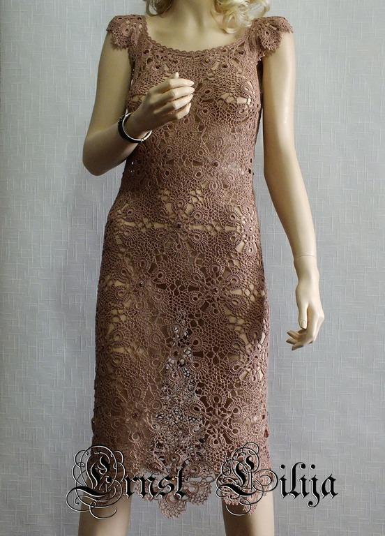 d7a5d9b68d3 Летнее вязаное платье