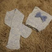 Комплект вязаный: шапочка и шарфик