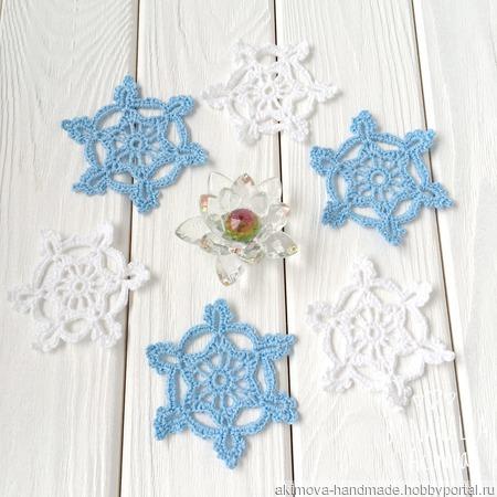 Набор снежинок (6 шт) ручной работы на заказ