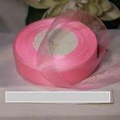 Органза однотонная 25мм цвет розовый