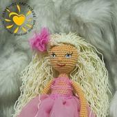 Кукла амигуруми Розочка