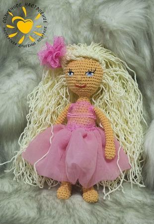 Кукла амигуруми Розочка ручной работы на заказ