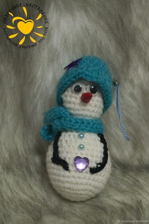 Вязанный снеговик ручной работы на заказ