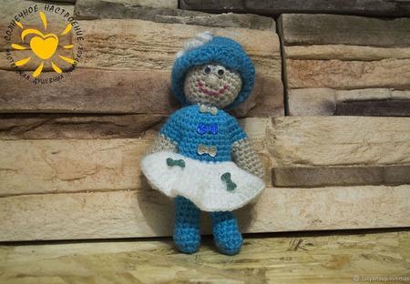 Кукла  пупс амигуруми крючком ручной работы на заказ