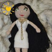 Кукла каркасная в белом платье