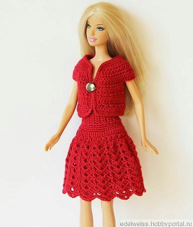 """Стильный комплект """"Клюквенное Настроение"""" для Барби ручной работы на заказ"""