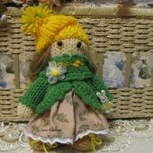 Вязаная игрушка  кукла Ромашка