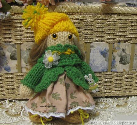 Вязаная игрушка  кукла Ромашка ручной работы на заказ