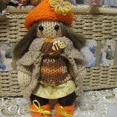 Вязаная игрушка  кукла Пчелка