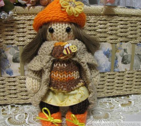 Вязаная игрушка  кукла Пчелка ручной работы на заказ