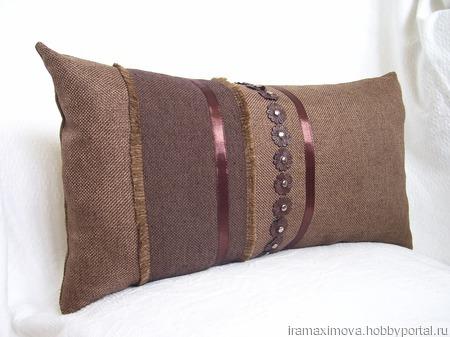 Подушка декоративная (чехол) Вечер вдвоем ручной работы на заказ