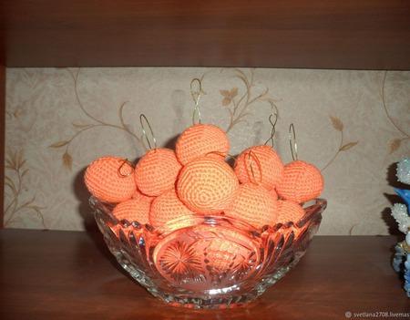 Мандарины  -  символ Нового года!!! ручной работы на заказ