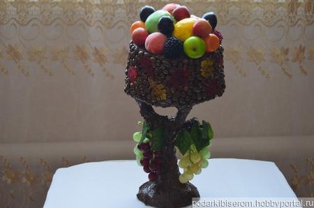 Чаша с фруктами ручной работы на заказ