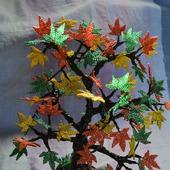 """Бисерное дерево """"Осенний клён"""""""