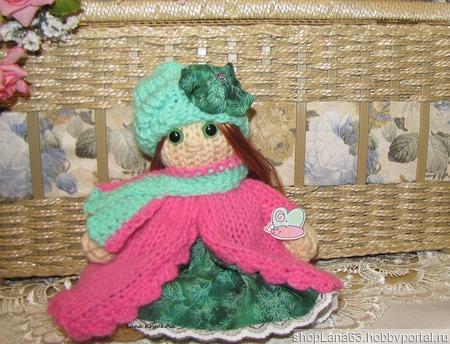 Вязаная игрушка кукла Розочка ручной работы на заказ