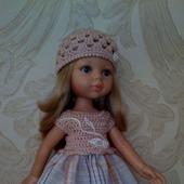 Одежда для кукол Паола Рейна(Paola Reina) платье и шапочка