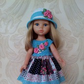Платье и шляпка для кукол Паола Рейна.