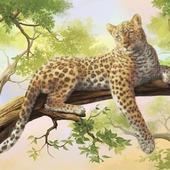 Схема вышивки бисером Леопард