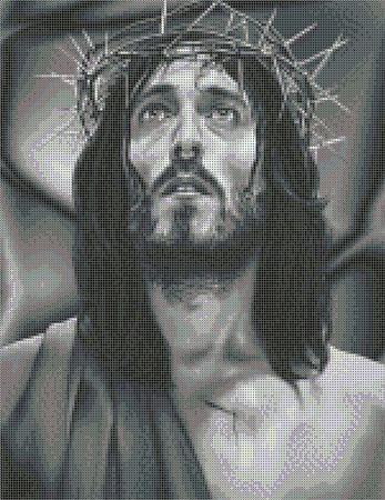 Схема для вышивки бисером Иисус Христос ручной работы на заказ