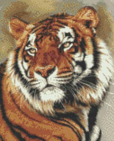 Набор для вышивки бисером Тигр ручной работы на заказ